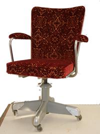 Bureaustoel in stof van Lelievre