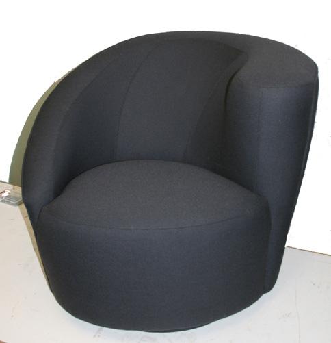 Moderne stoel in zwarte wol
